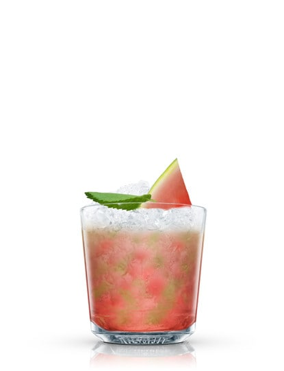 watermelon smash against white background