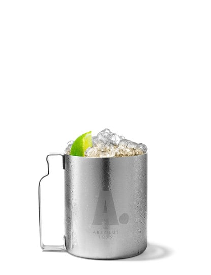 absolut zest berry mule against white background