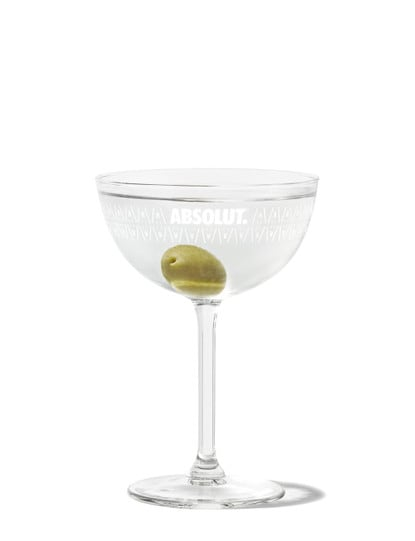 martini against white background
