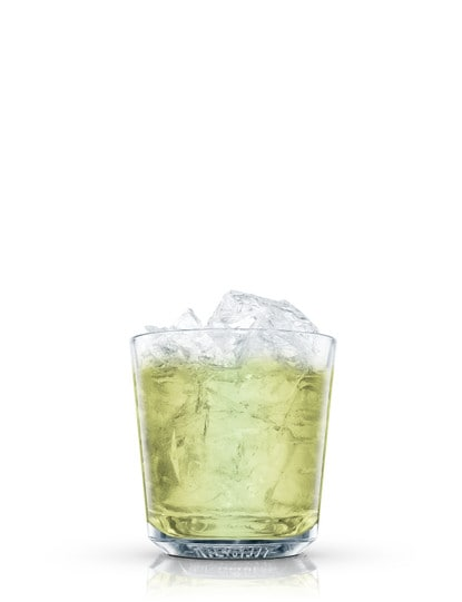 absolut mint julep against white background