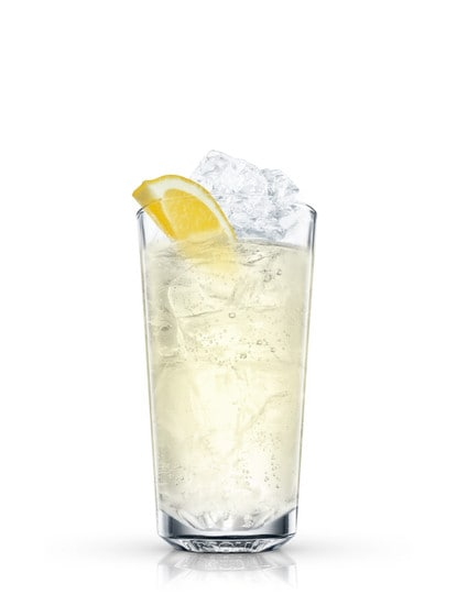 absolut citron sling against white background