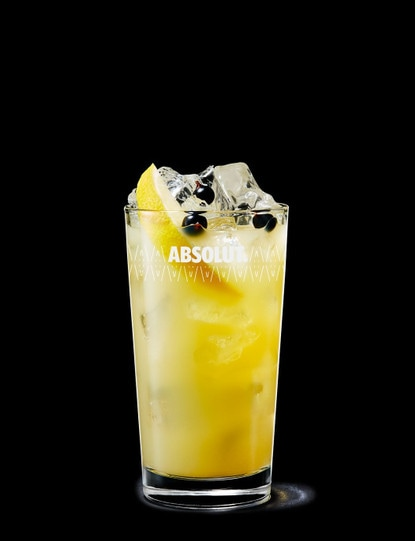 Absolut Kurant with Apple Juice