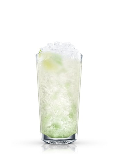 absolut lime mojito against white background
