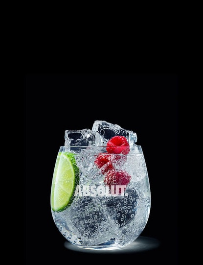 absolut raspberri soda