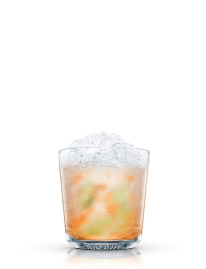 absolut mango caipiroska against white background