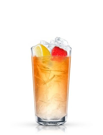 summer iced tea against white background