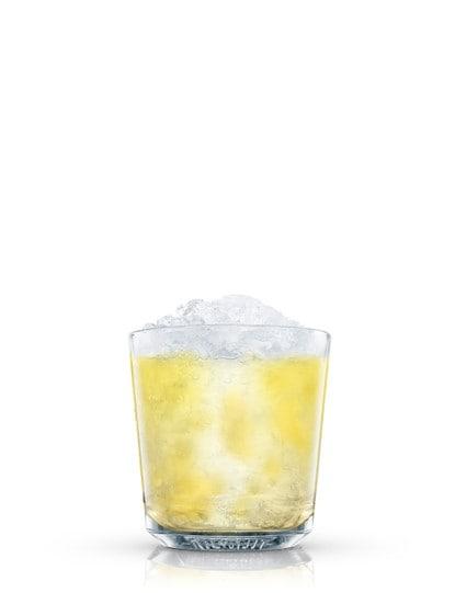 absolut citron caipiroska against white background