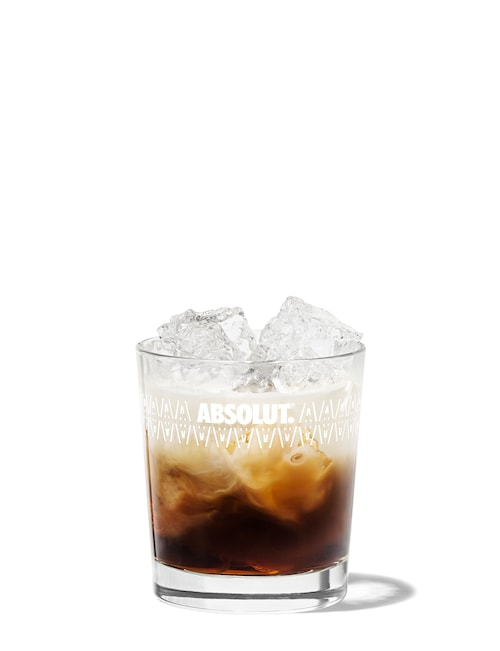 white russian against white background