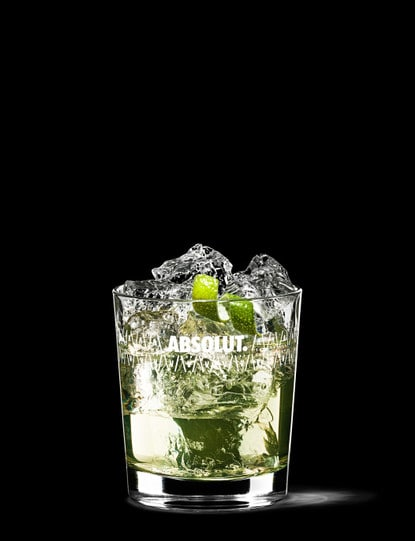 absolut citron gimlet