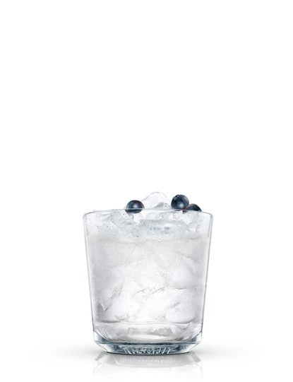 absolut blueberry bell against white background