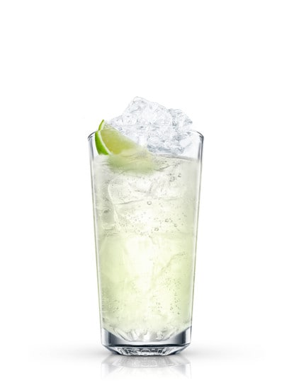 absolut citron lime and lime against white background