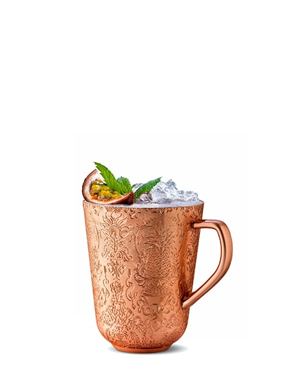 copper cup #16 against white background