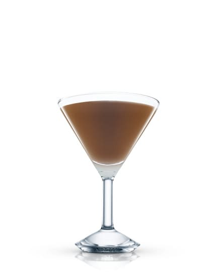 absolut marocchino martini against white background