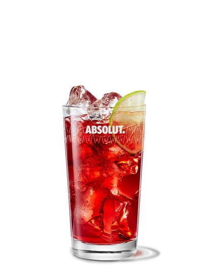 Absolut Hibiskus and Cranberry Juice