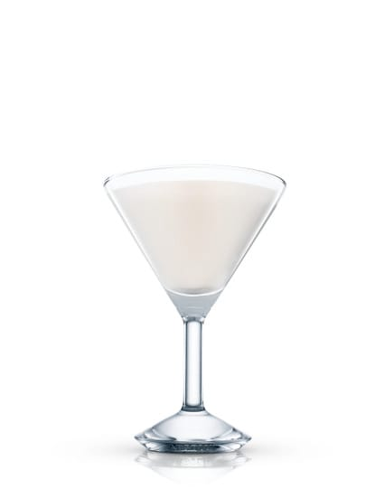 absolut mint chocolate martini against white background