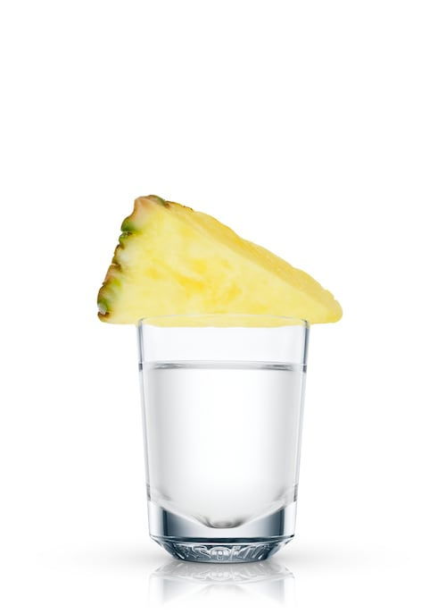 absolut pineapple shooter against white background
