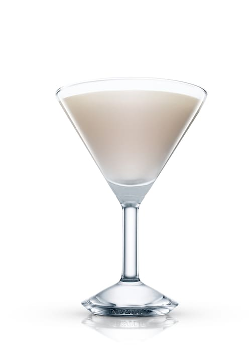 white vanilia coffee against white background