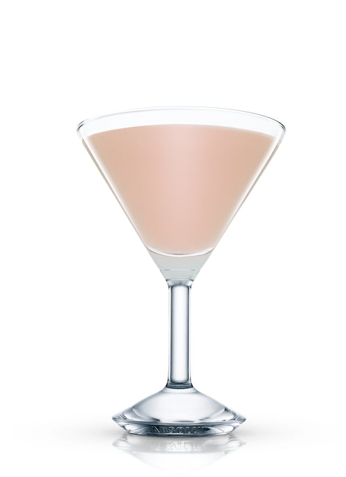 asylum cocktail against white background