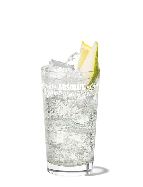 absolut pears lemonade against white background