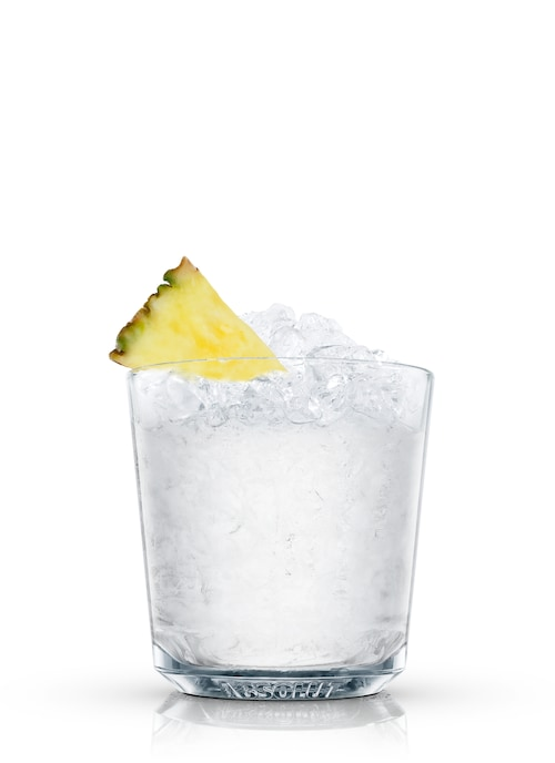 absolut pineapple fusion against white background