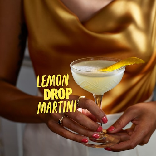 lemon drop martini in environment