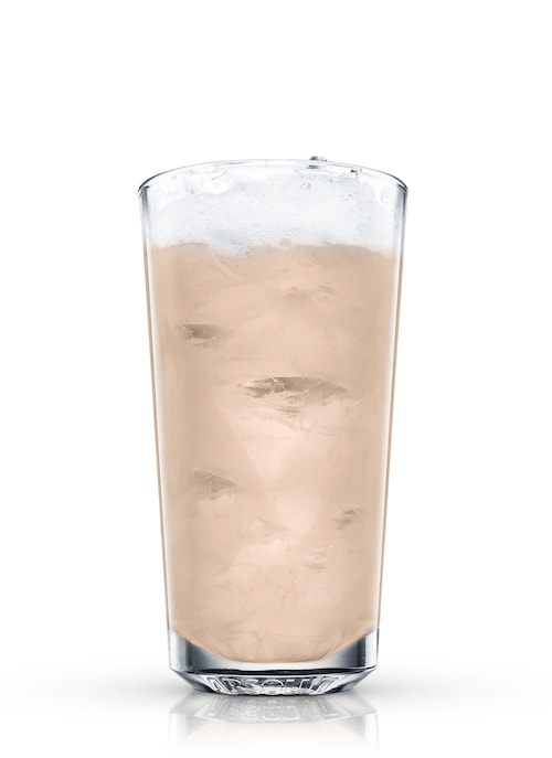 egg-nog against white background