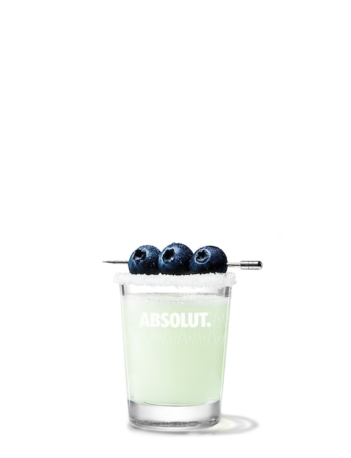 absolut berri drop against white background