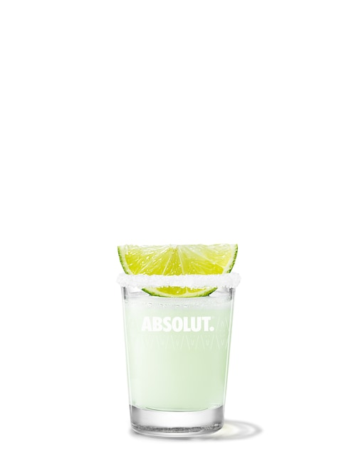 absolut lime drop against white background