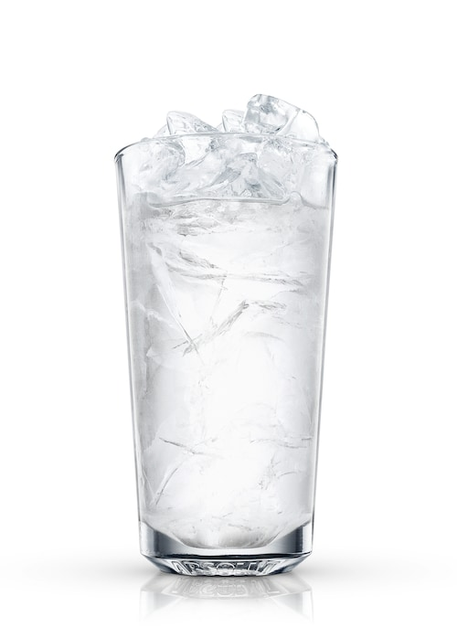 a glass of water against white background