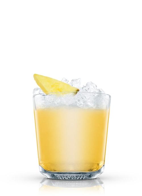 pineapple cobbler against white background