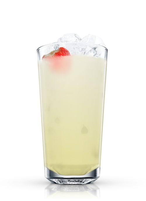 strawberry fizz against white background