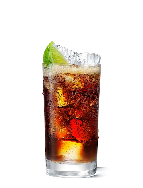 absolut fizzy cola against white background