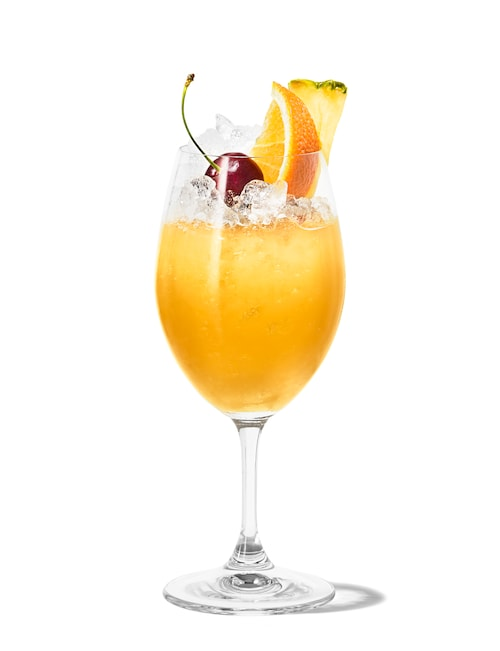 mai-tai special against white background