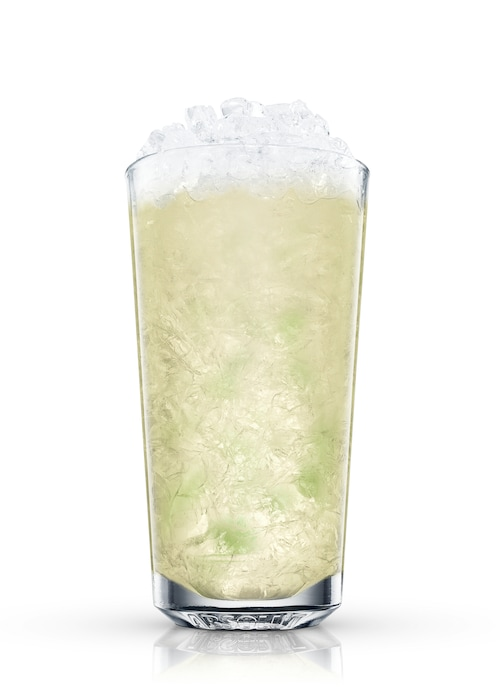 orange mojito against white background