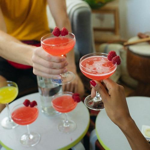 raspberry martini in environment
