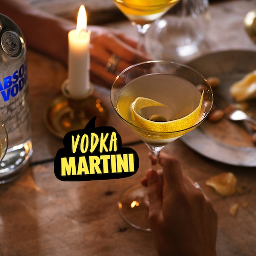 absolut vodka martini in environment