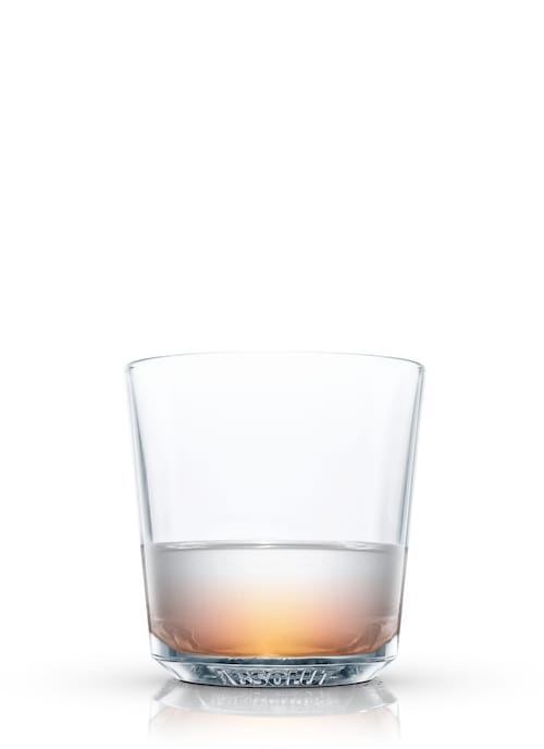 rum toddy buttered against white background
