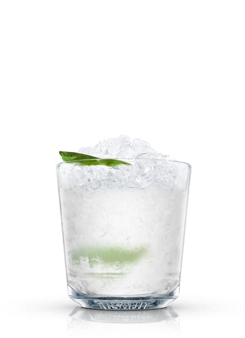 gin julep against white background