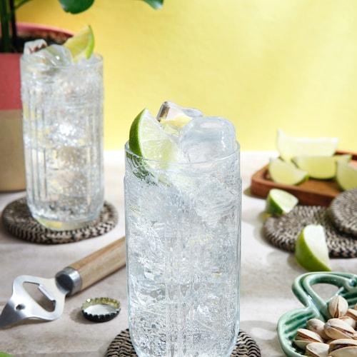 malibu and lemon-lime soda in environment