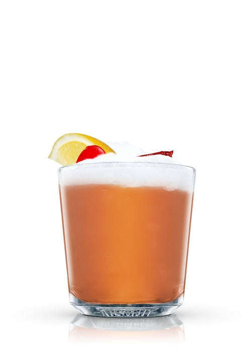 brandy sour against white background