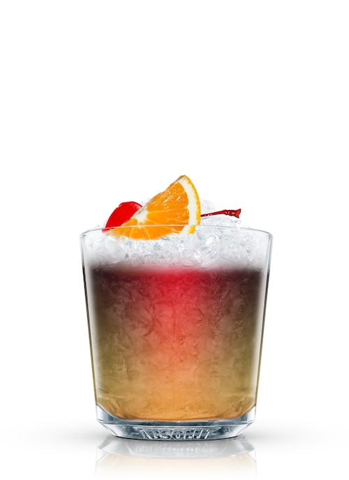 creole punch against white background