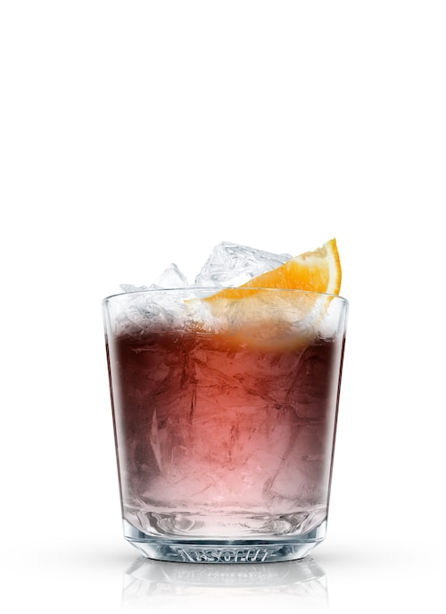 absolut negroni against white background