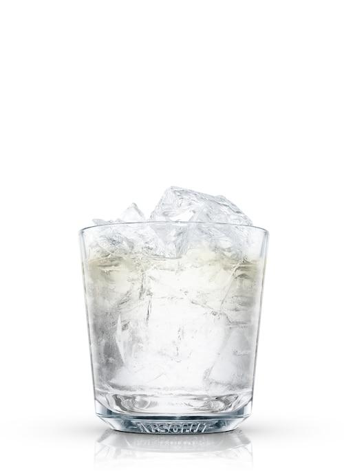 vodka iceberg against white background