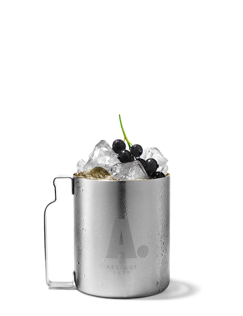 absolut kurious mule against white background