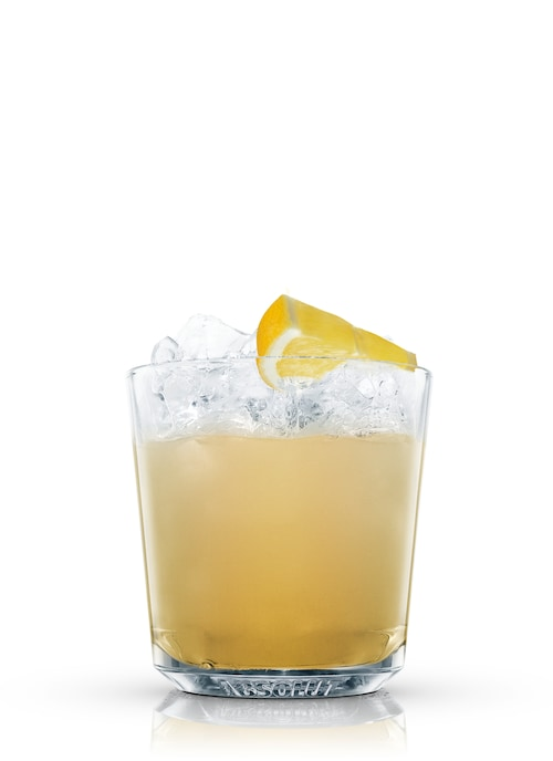 apricot fizz against white background
