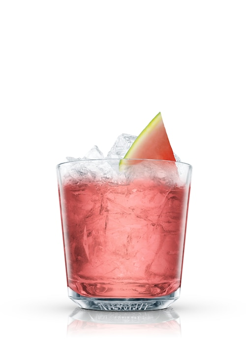 absolut watermelon smash against white background