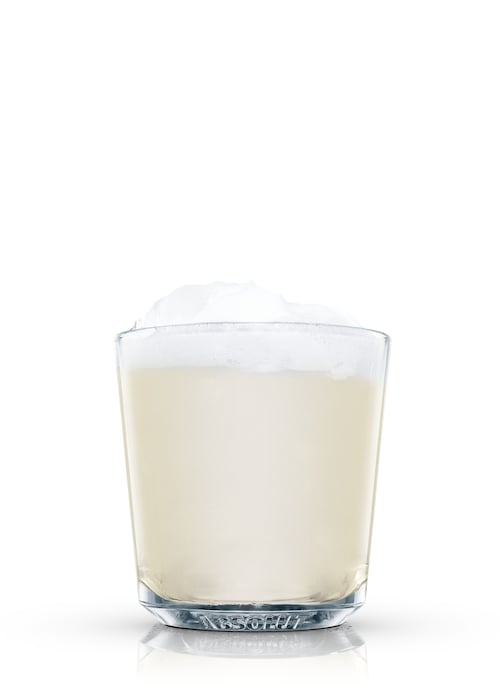 rum egg-nog against white background