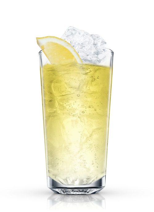 malibu and lemon-lime soda against white background