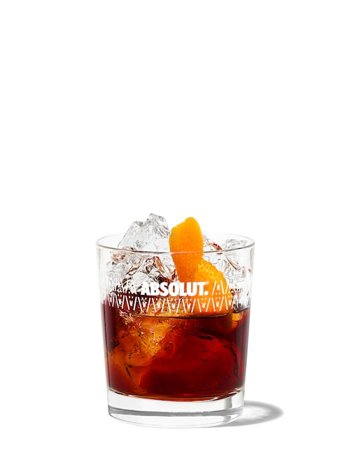 100 old fashioned against white background