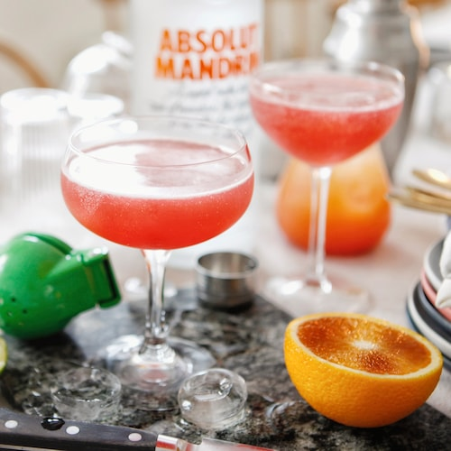 blood orange cosmo in environment